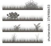 grass  shrubs. | Shutterstock .eps vector #376988653