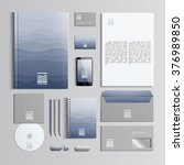 corporate identity template in... | Shutterstock .eps vector #376989850