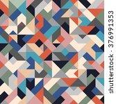 retro colored seamless...   Shutterstock .eps vector #376991353