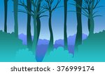 game background. spring forest. | Shutterstock . vector #376999174