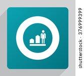 vector man diagram arrow icon | Shutterstock .eps vector #376999399