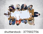 diverse people meeting... | Shutterstock . vector #377002756