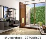 3d illustration of modern... | Shutterstock . vector #377005678