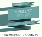 vintage 3d banner invite...