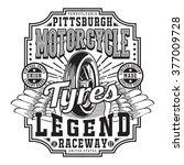 motorcycle typography  t shirt... | Shutterstock .eps vector #377009728