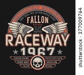 motorcycle typography  t shirt... | Shutterstock .eps vector #377009764
