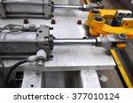 pneumatic cylinder | Shutterstock . vector #377010124