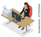 workplace. successful business... | Shutterstock .eps vector #377010343