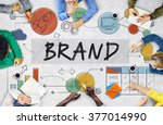brand branding advertising... | Shutterstock . vector #377014990