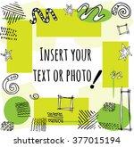 vector frame for text or photos ... | Shutterstock .eps vector #377015194
