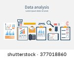 analysis of concept in flat... | Shutterstock .eps vector #377018860