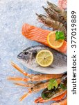 Fresh Seafood On Crushed Ice ...
