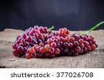 Red Grape On Sackcloth
