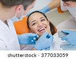 medical treatment at the... | Shutterstock . vector #377033059