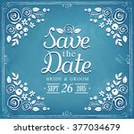save the date. wedding... | Shutterstock .eps vector #377034679