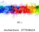 bright colored strip. rainbow... | Shutterstock .eps vector #377038624