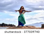 ethnic fashion outdoor photo of ... | Shutterstock . vector #377039740