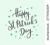 happy st patricks day simple... | Shutterstock .eps vector #377056309