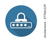 password protection icon. flat... | Shutterstock .eps vector #377061229