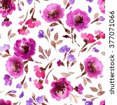 watercolor floral pattern.... | Shutterstock . vector #377071066