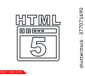 modern thin line icon of html 5....