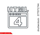 modern thin line icon of html 4....