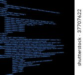 blue html code text with black... | Shutterstock . vector #37707622