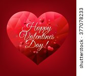 valentines day card with... | Shutterstock .eps vector #377078233