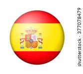 the spanish flag. round matte... | Shutterstock . vector #377078479