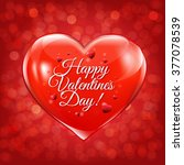 valentines day card with red... | Shutterstock .eps vector #377078539