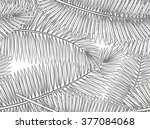 seamless pattern with palm... | Shutterstock . vector #377084068