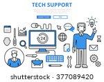 technical support customer tech ... | Shutterstock .eps vector #377089420
