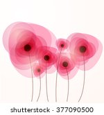 vector abstract pink flowers ...   Shutterstock .eps vector #377090500