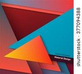 vector polygonal material... | Shutterstock .eps vector #377094388