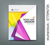 cover annual report abstract... | Shutterstock .eps vector #377096734