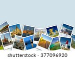 travel. photo collage. concept... | Shutterstock . vector #377096920