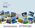 photo collage. travel concept. | Shutterstock . vector #377099284