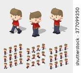 cartoon freelancer minifigure.... | Shutterstock .eps vector #377099350