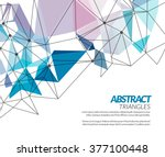 vector polygonal triangle... | Shutterstock .eps vector #377100448
