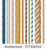 ropes set. cartoon vector... | Shutterstock .eps vector #377106934