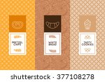 vector set of design templates... | Shutterstock .eps vector #377108278