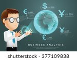 currency businessman analysis | Shutterstock .eps vector #377109838