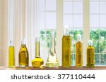 various types of oil in bottles | Shutterstock . vector #377110444
