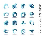 3d fat line icon set for web... | Shutterstock .eps vector #377110588