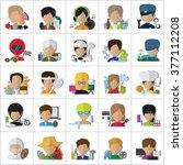 flat people   different... | Shutterstock .eps vector #377112208