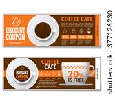 coffee discount coupon voucher. ... | Shutterstock .eps vector #377126230