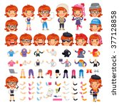 casually dressed female cartoon ...   Shutterstock .eps vector #377128858