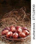 Painted Brown Onion Peel Easte...