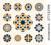 geometric circular ornaments... | Shutterstock .eps vector #377132398