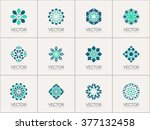 geometric logo template set.... | Shutterstock .eps vector #377132458